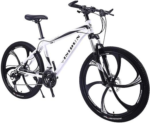 QJ Bicicleta de montaña, 21Speed MTB con Amortiguador de Carrera ...