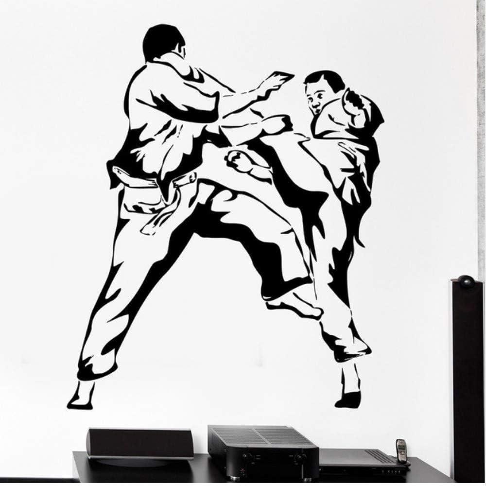 Czxmp Wallpaper Karate Martial Arts Vinyl Wall Stickers Home Decal Sport Poster Decor Living Room Decoration 45 60cm Amazon Co Uk Diy Tools