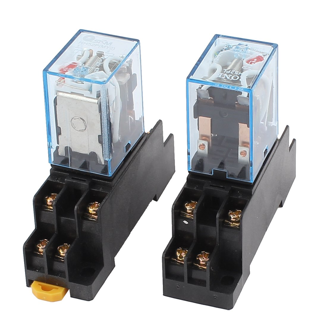 2 x AC 110V/120V 5A Coil Red Light DPDT 8Pin Power Relay + Socket Base US-SA-AJD-106277