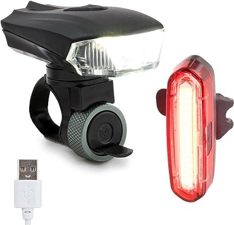 Echelon Line Premium Lámpara Bici Luz de Bicicleta Rechargables ...