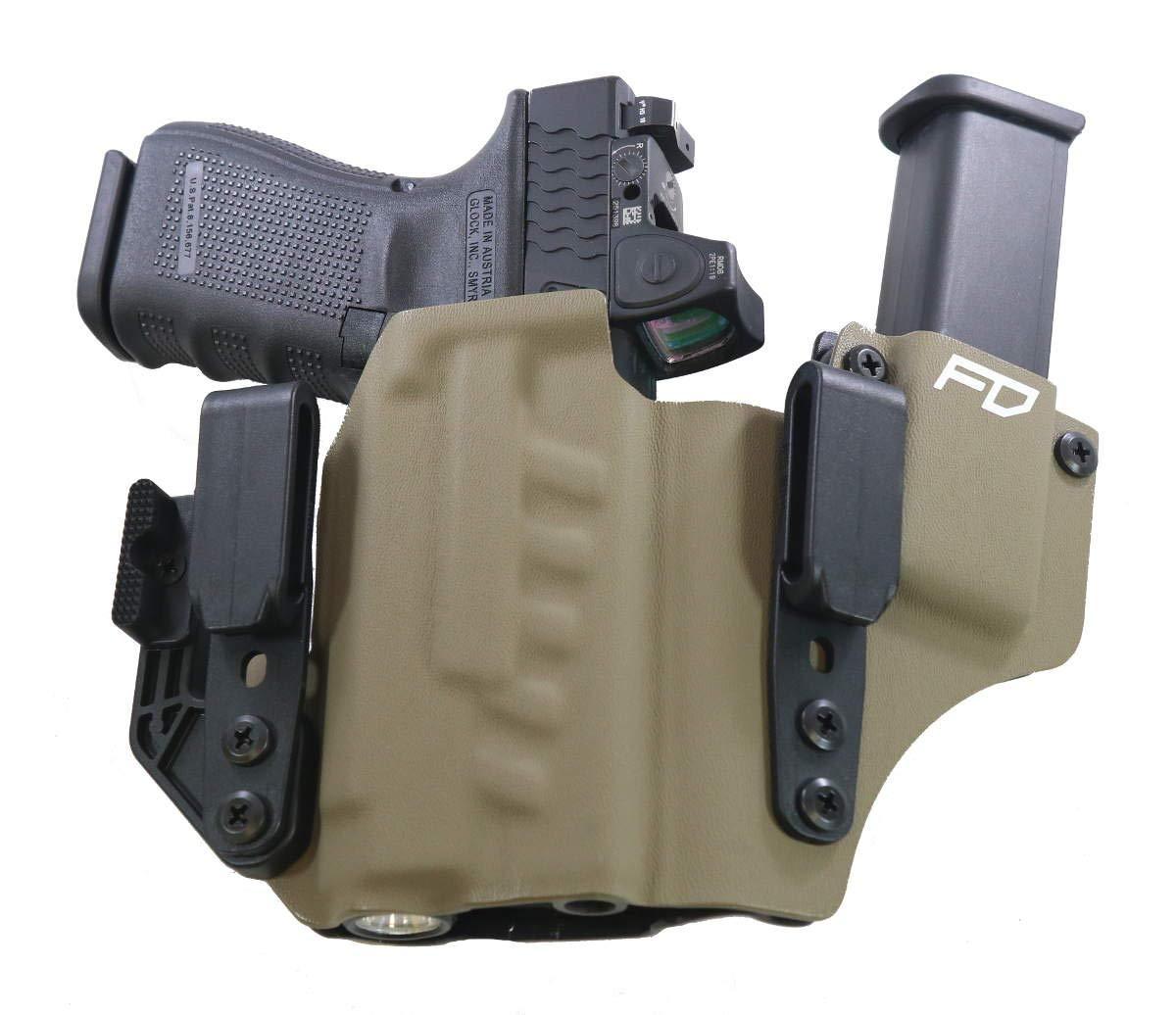 Fierce Defender IWB Kydex Holster Glock 19 23 32 w/APLc +1 Series w/Claw  -Made in USA- Gen 5 Compatible