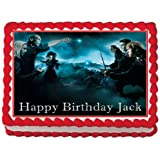 Harry Potter Personalized Edible Cake Topper Image 1 4 Sheet