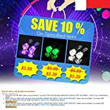 IC ICLOVER Led earring,1 Pairs Cool Shiny Glowing