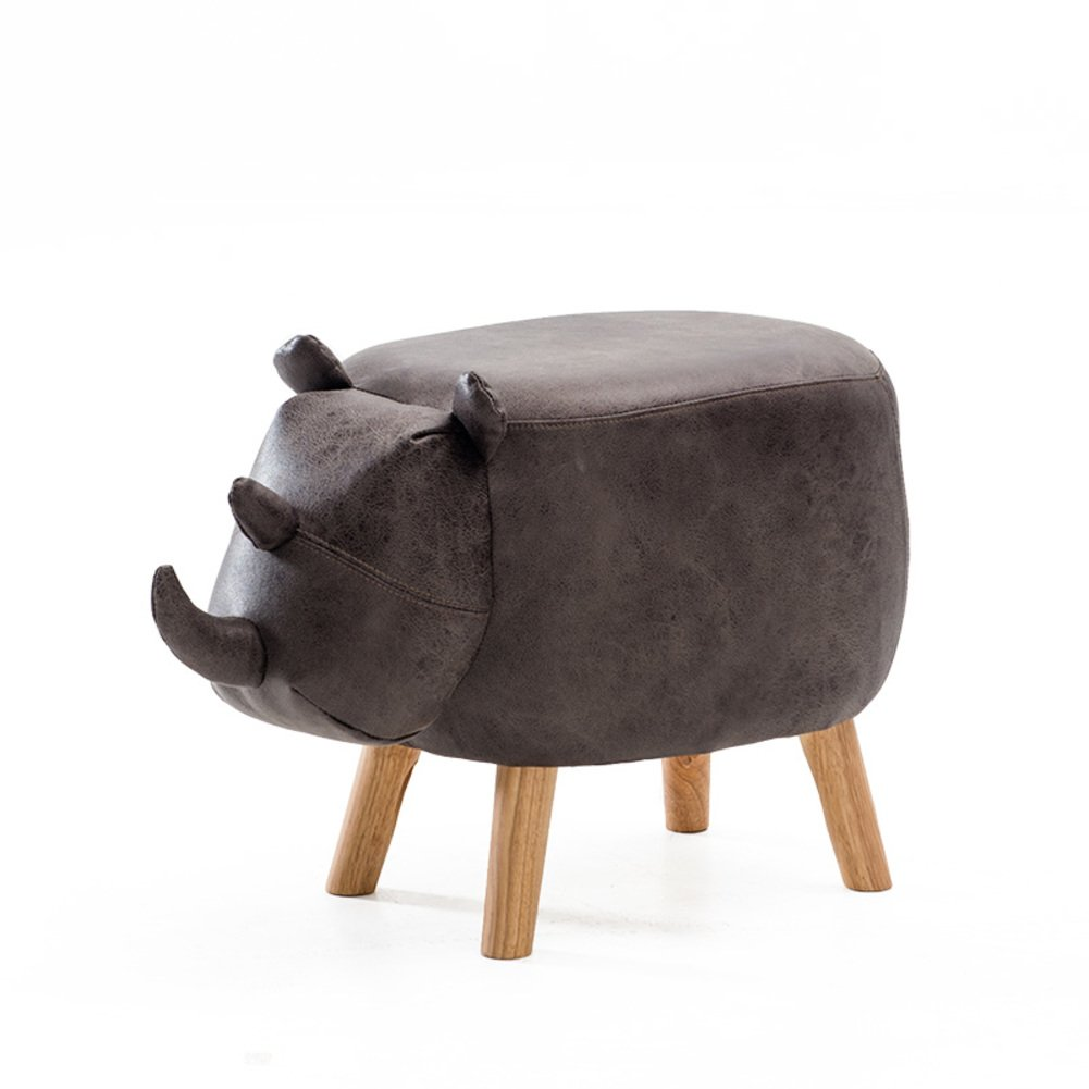 Footstool/ stool / children creative solid wood sofa / fabric, changing shoes, decoration, toys-B 64x33x41cm(25x13x16inch)