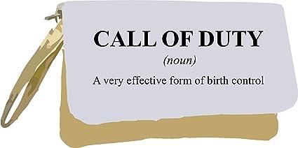 Call of Duty Definición divertida alternativa no en la bolsa de embrague de diccionario, color