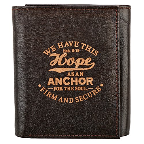 Genuine Leather Anchor Tri Fold Wallet product image