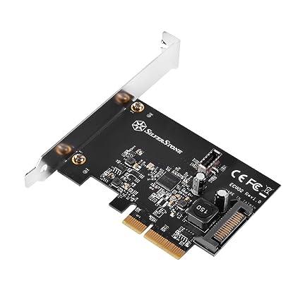 Silverstone SST-ECU02 - SuperSpeed 2X USB 3.1 Gen2 Interno, Tarjeta de expansión PCI-E Gen 2.0 x2, 16Gbps, Soporte de bajo Perfil