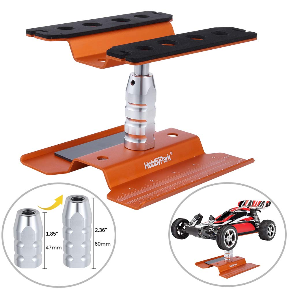 Hobbypark RC Car Work Stand Aluminum Repair Station 360 Degree Rotate Lift or Lower for 1/8 1/10 1/12 1/16 1/18 Scale