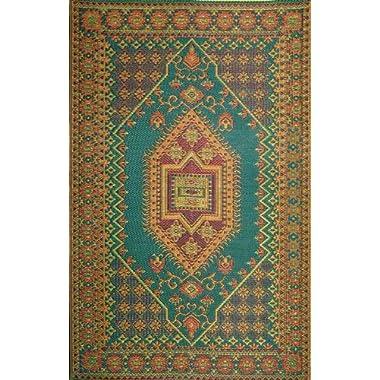 Mad Mats® Oriental Turkish Indoor/Outdoor Floor Mat, 4 by 6-Feet, Aqua