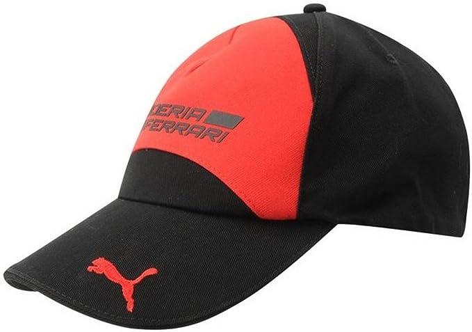 Puma Ferrari-Gorra para hombre, color negro y rojo: Amazon.es ...