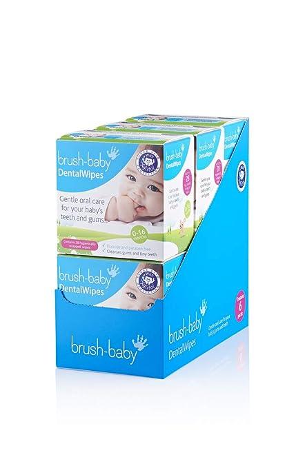 Dientes paños Brush de Baby – Valor Pack de 6 cajas de 28 wischtücher