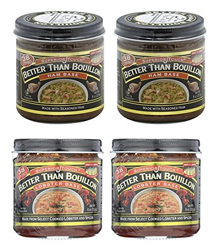 Better Than Bouillon Ham Base 8 oz and Lobster Base 8 oz (2 of each)