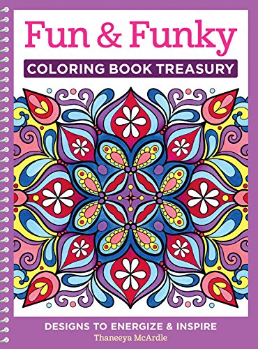 Pdf Crafts Fun & Funky Coloring Book Treasury: Designs to Energize and Inspire (Design Originals) 208 Pages with 96 Groovy One-Side-Only Designs on Extra-Thick Perforated Paper in a Handy Spiral Lay-Flat Binding