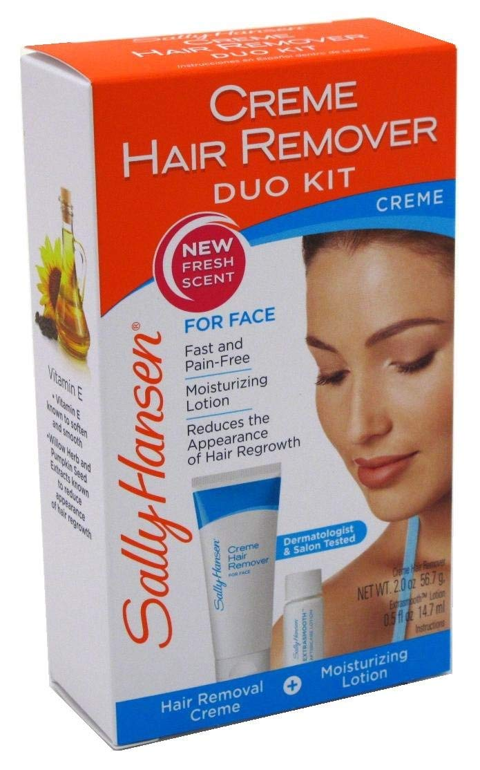 Sally Hansen Creme Hair Remover Duo Kit For Face (3 Pack)