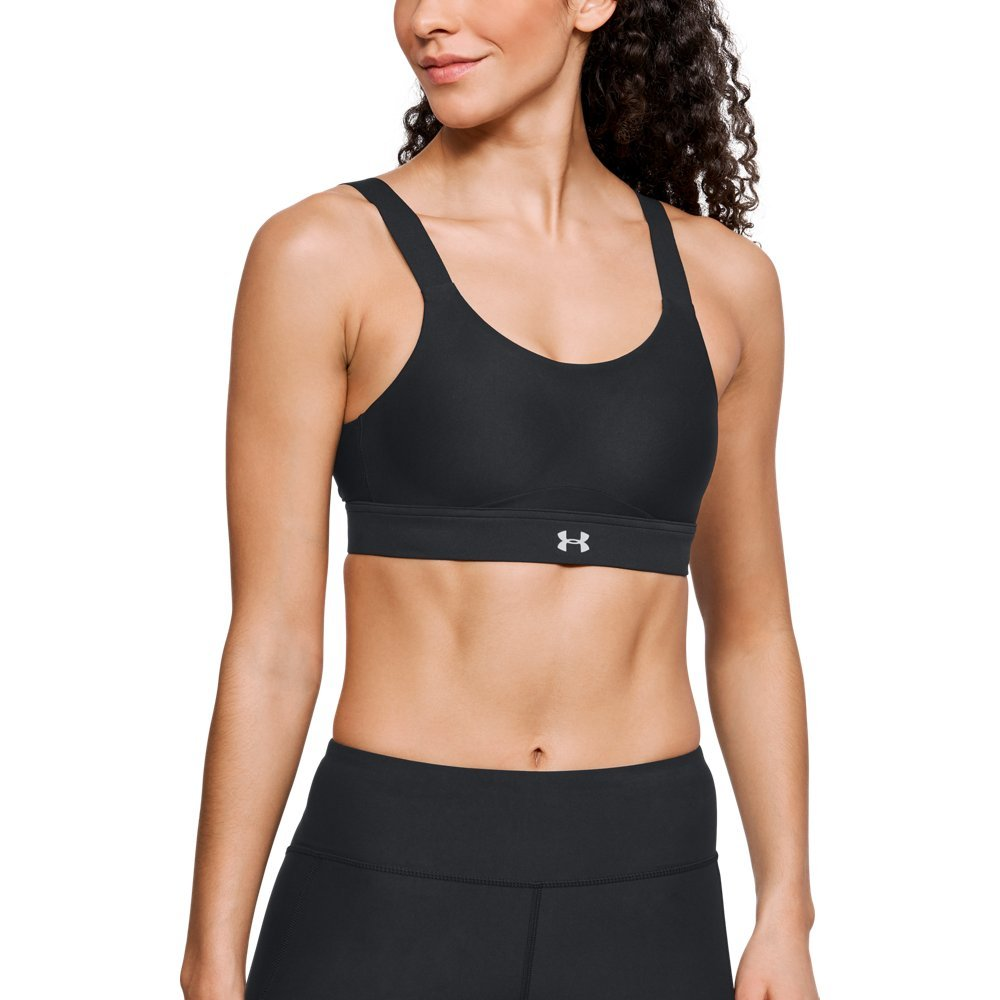 Under Armour Women's Balance Eclipse High Zip Sports Bra, Black (001)/Reflective, 32A