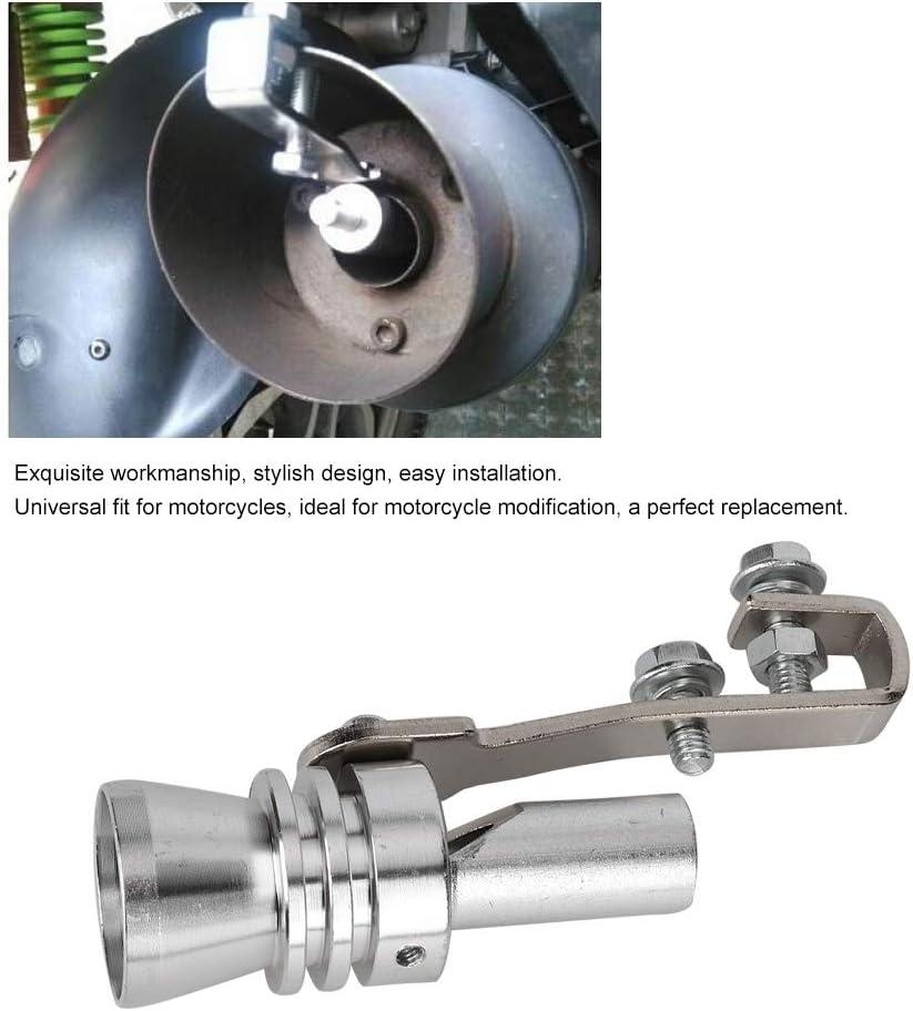 S Type de trompette Tuyau d/échappement universel Simulateur de soupape de d/écharge Sifflet Son Turbo Sound Simulator Whistle