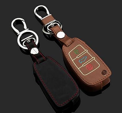 Funda de piel color Auto estuche llavero llave funda Llave Anexo llaves funda para Audi: Amazon.es: Coche y moto