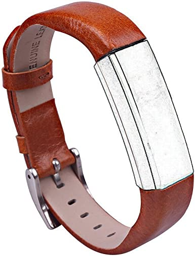 iSTYLE Vintage Replacement Luxury Genuine Leather Band Strap Bracelet For Fitbit Alta HR With metal buckle