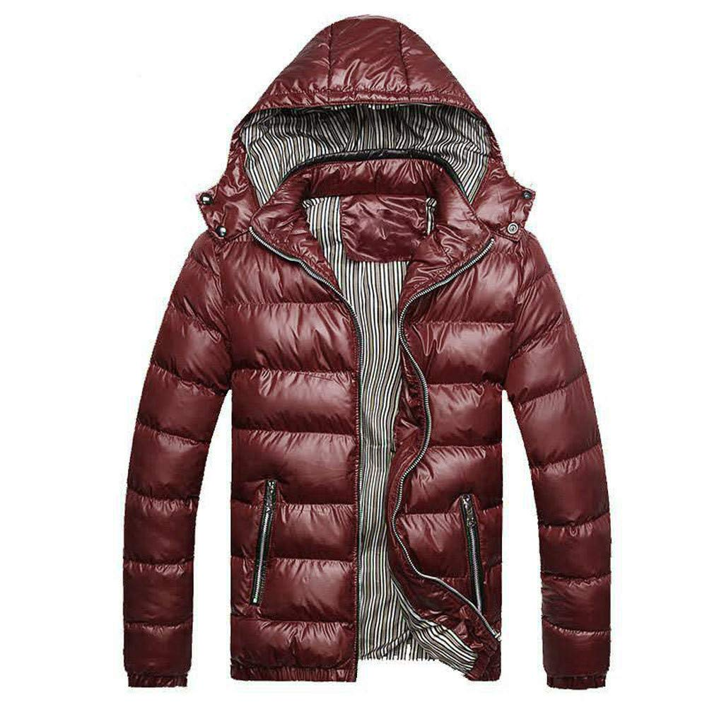 Sumen Men Winter Cotton Jacket with Removable Hood Winter Thicken Warm Cotton Padded Coat