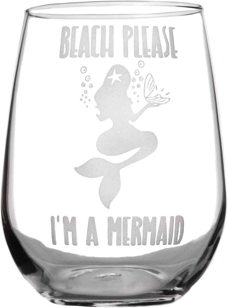 Mermaids Mermaid Glass Mermaids Get Thirsty Too Mermaid Wineglass Glittered Wineglass