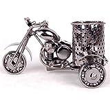 TECHVIDA Creative Office Desktop Accessories,Harley The Motorcycle Loves Metal Pencil Pen Holder