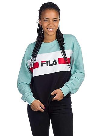 6c1b5d2dc07 Fila Women Jumpers Urban Line Angela 2.0 Turquoise XL: Amazon.co.uk ...