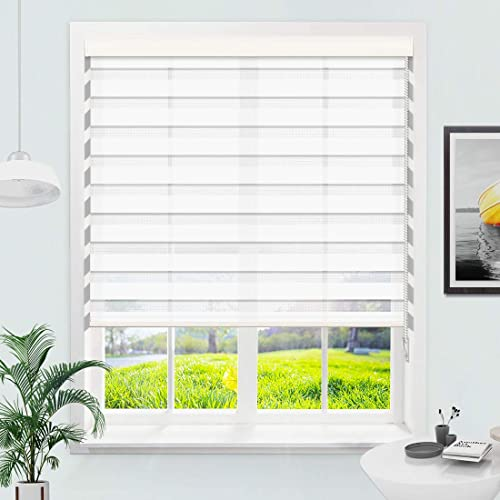 MiLin Zebra Blinds Window Blinds and Shades Dual Layer Roller Shades