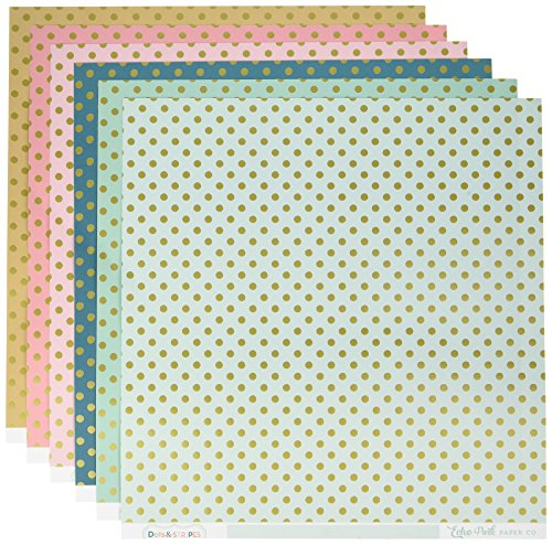 - Echo Park Paper Company DS16007 Dots & Stripes with Gold Foil 12x12 Collection Kit