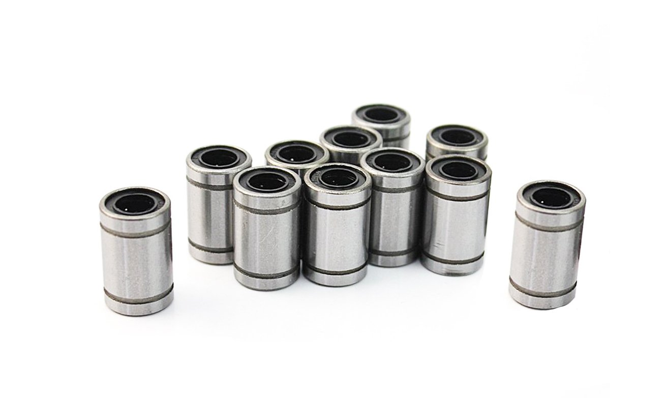 10Pcs15x24mm LM8UU Linear Ball Bearings for 8mm Rotation Rod Bushing Motion Double Sealed 3D Printer Cylinder CNC