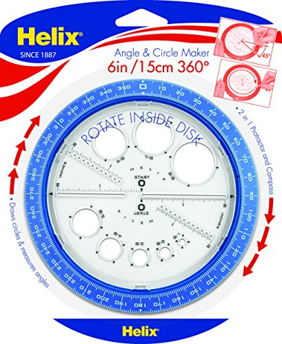 Large Product Image of Helix 360° Angle and Circle Maker, Assorted Colors (36002)