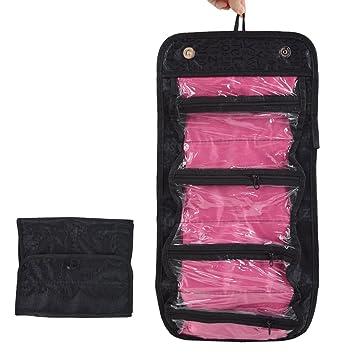 d60c4629cc32 LA HAUTE Hanging Toiletry Bags Makeup Organiser Pouch Foldable Travel Wash  Bag