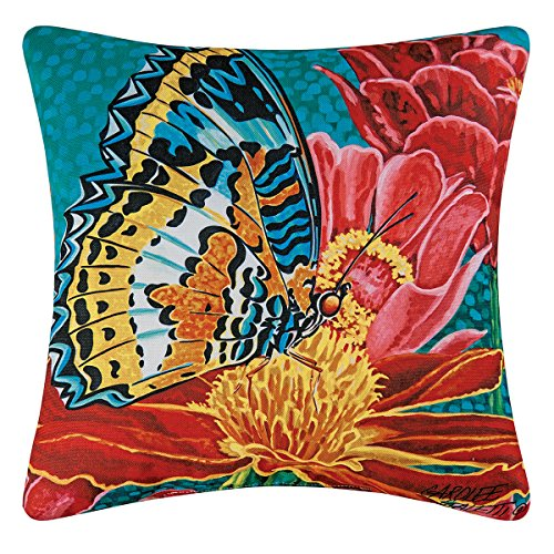 C and F Enterprises 18-in. Square Indoor/Outdoor Pillow - Butterfly Burst
