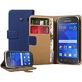 Membrane - Blu Portafoglio Custodia per Samsung Galaxy Ace Style (SM-G310) - Wallet Flip Case Cover