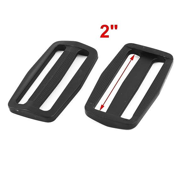 Amazon.com: eDealMax Mochila Correa Ajustable al aire Libre plástico Tri Glide Buckle 2, 3 pulgadas de longitud 20pcs Negro