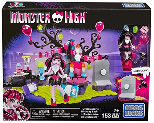 Mega Bloks Monster High Draculaura's Birthday Party Set (Monster High Party Set)