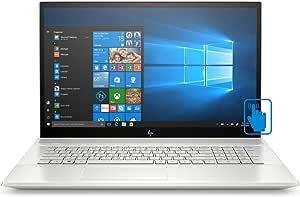 "HP Envy - 17t Home and Business Laptop (Intel i7-10510U 4-Core, 32GB RAM, 1TB m.2 SATA SSD + 2TB 25 HDD, 17.3"" Touch Full HD (1920x1080), GeForce MX250, Fingerprint, WiFi, Win 10 Home)"