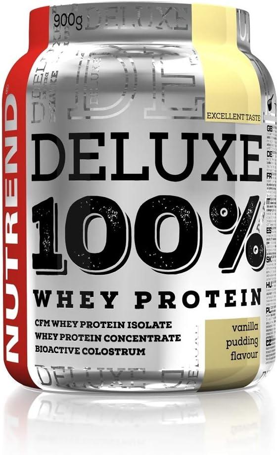De proteína de suero Deluxe 100% en Nutrend Sabor vainilla Pudim 2250g gran aminoácidos (BCAA) composición rápidamente digerible WPC aislar WPI CFM ...