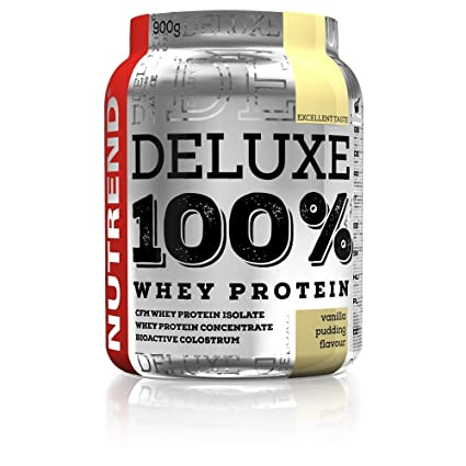 De proteína de suero Deluxe 100% en Nutrend Sabor vainilla Pudim ...