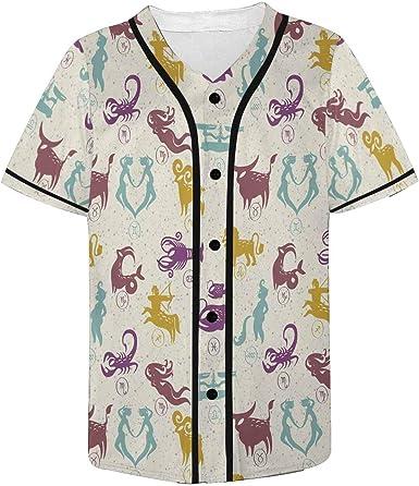 INTERESTPRINT Childs T-Shirt Signs of Zodiac XS-XL