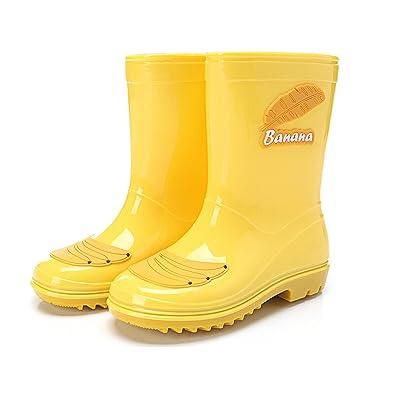Gelbe Kinder Regenstiefel aus Naturkautschuk