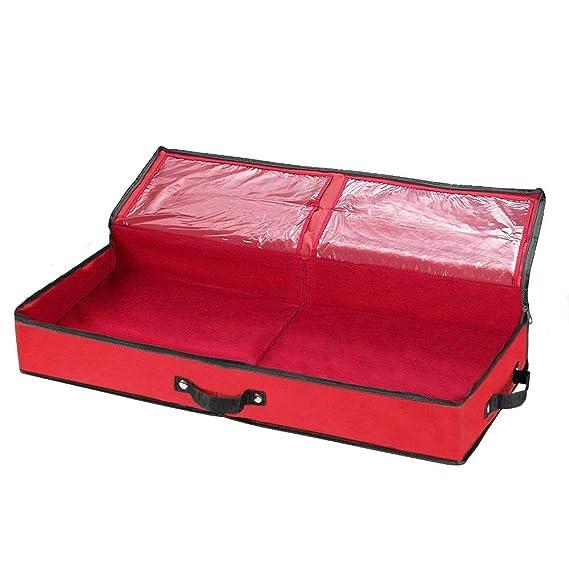 Schleifen und Geschenkverpackung Aufbewahrungstasche von Primode f/ür 76,2 cm lange Geschenkpapierrollen Aufbewahrungstasche rot