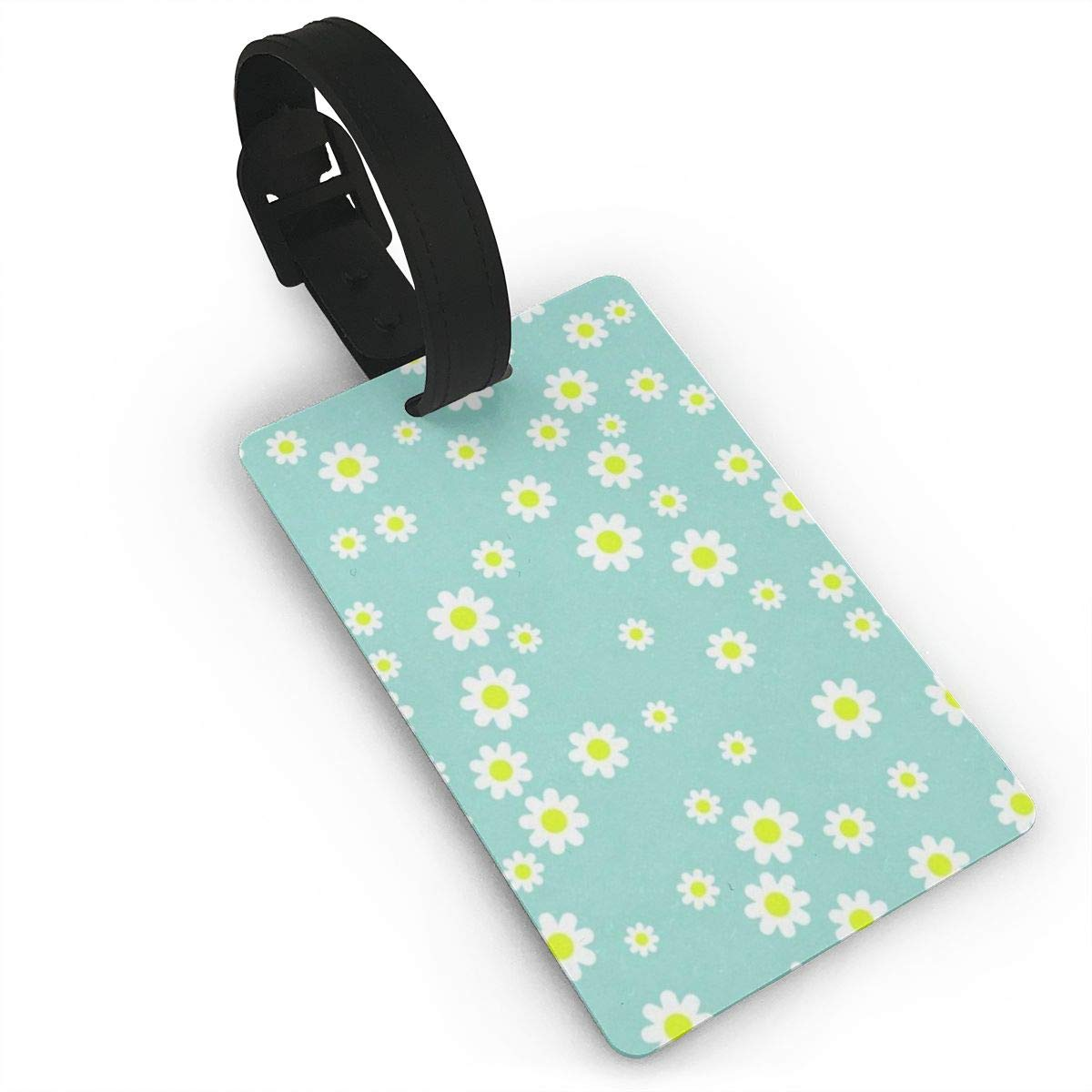 Luggage Tags Small Chrysanthemum Green Background Bag Tag for Travel 2 PCS