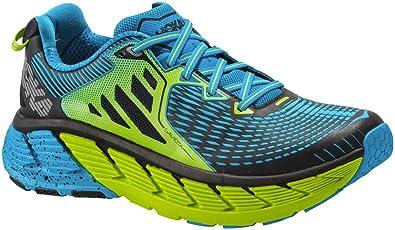 b2f35ec61b462 Amazon.com   HOKA Men's Gaviota, Color: Bright Green/Blue, Size: 7 ...