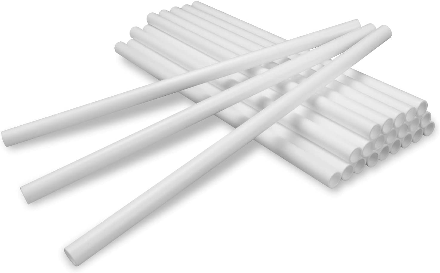 24 Pieces Plastic White Cake Dowel Rods for Tiered Cake Construction and Stacking Supporting Cake Round Dowels Straws with 0.4 Inch Diameter 9.5 Inch Length By lsshao