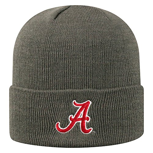 Top of the World Alabama Crimson Tide Men's Winter Knit Hat Icon, Charcoal, One Fit