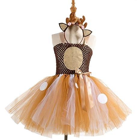 Amosfun Vestido de tutú con Falda de tutú para niñas ...