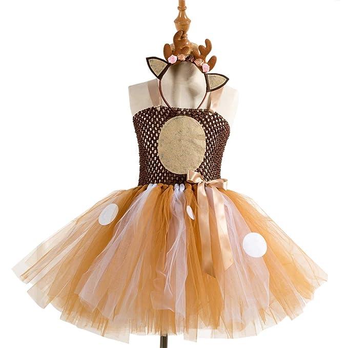 Amazon.com: Amosfun - Vestido de tutú con falda de reno para ...