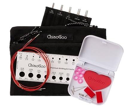 ChiaoGoo Twist Mini intercambiables aguja de tejer set con 4 en puntas