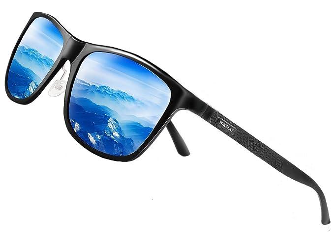 WHCREAT Gafas De Sol Polarizadas De Conducción Retro Para Hombres y Mujeres Con Bisagra De Muelles