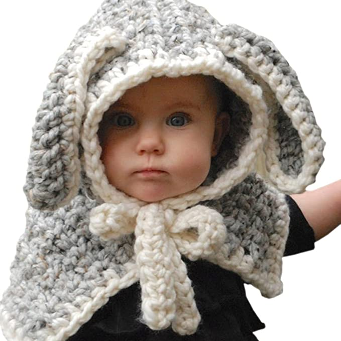 Amazon Ztl Kids Baby Girls Winter Hat With Cute Rabbit Ears